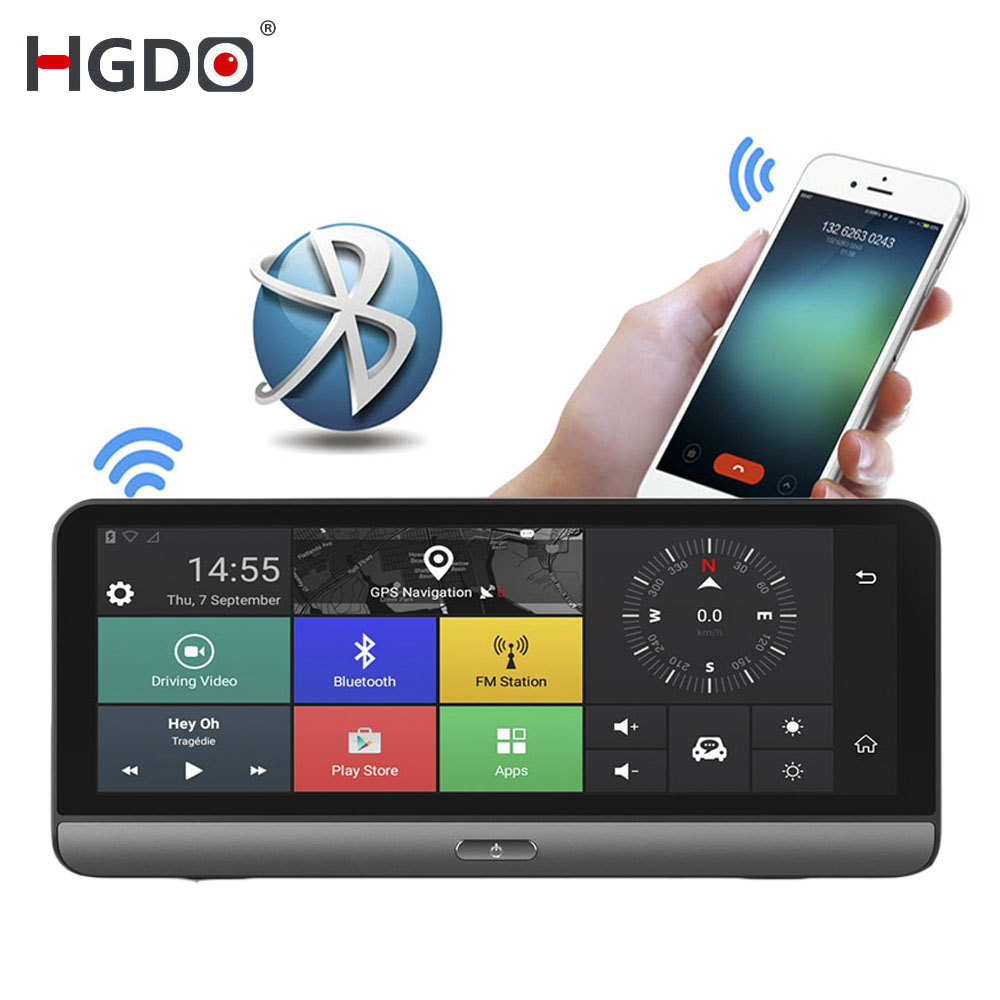 HGDO Video-Recorder Android Monitor Car-Dvr-Camera Dash-Cam Registrar-Park Dual-Lens