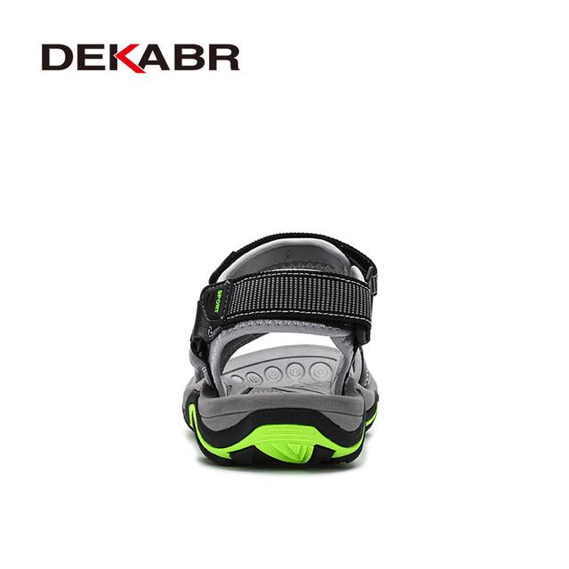 DEKABR High Quality Summer Men Sandals Real Leather NonSplit Soft Comfortable Men Shoes New Fashion Men Casual Shoes Size 39~45