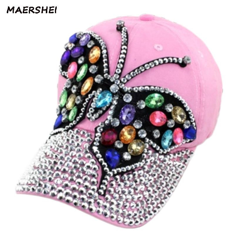Женская бейсбольная кепка MAERSHEI, Кепка-Снэпбэк, модная повседневная кепка черного, розового цвета в ковбойском стиле для девушек
