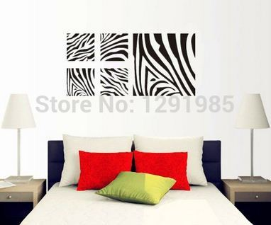 Zebra Print Wall Stickers PromotionShop For Promotional Zebra - Zebra print wall decals