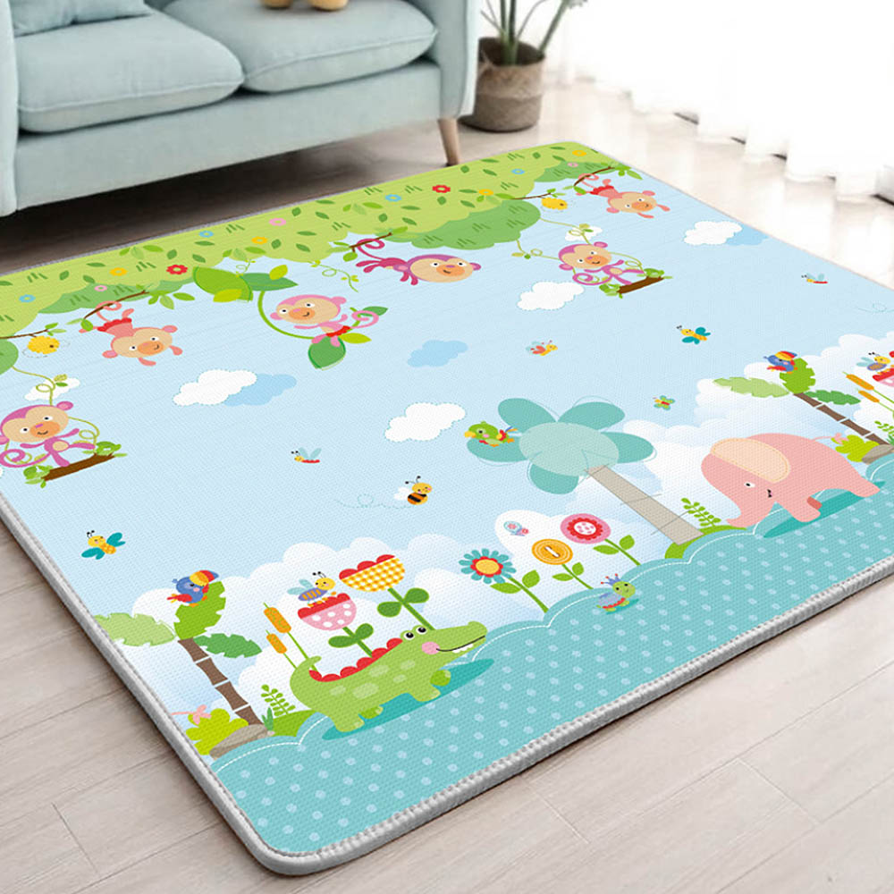 Infant Shining 1CM Thick Baby Mat Playmat Foldable Kid Play Mat 200*180CM Large Child Crawling Mat Puzzle Blanket Game Pad