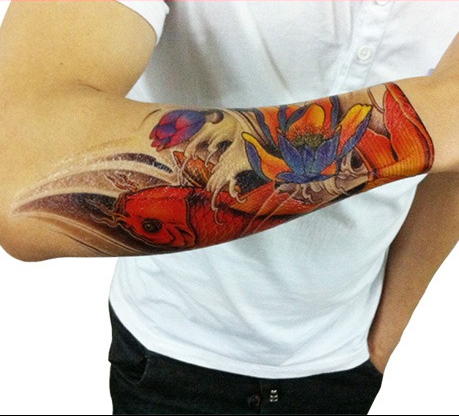 Tatuajes Brazo Color Tatuaje De Dragn De Colores En El Brazo With