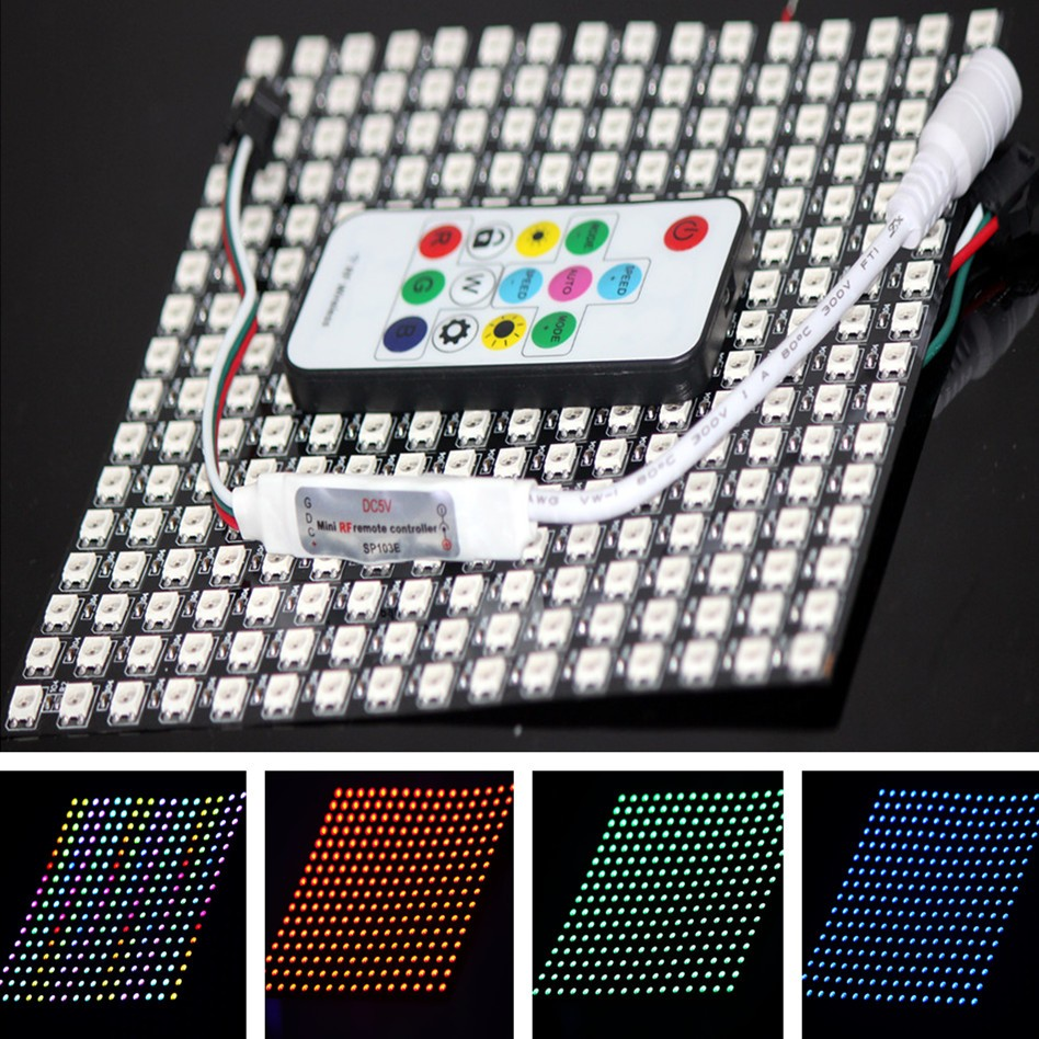 WS2812 LED 5050 RGB 16x16 256 Raspberry Pi LED Dot Matrix Display for Arduino Panel Array For Adafruit controller