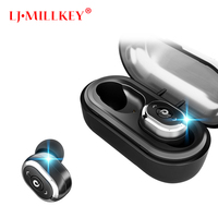 Control Mini Twins Earbuds TWS Earphone WaterProof Bluetooth Headset Handsfree With Charging Box LJ MILLKEY YZ119