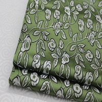 CF152 1Yard Green Antique Silk Fabric Chinese Style Brocade Jacquard Fabric For Men Tang Suit Cushion