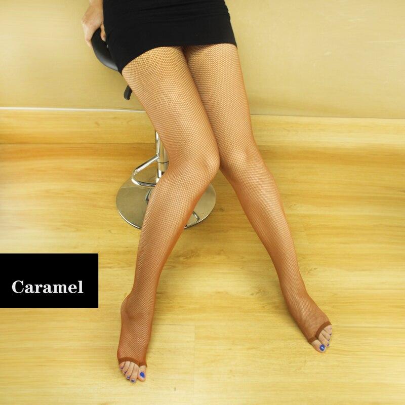 2019 Hot Women's Fingerless Fishnet Stockings Ladies Toe Tights Girl Mesh Perform Pantyhose Slim Dance Latin Toe Tight Hot Sell