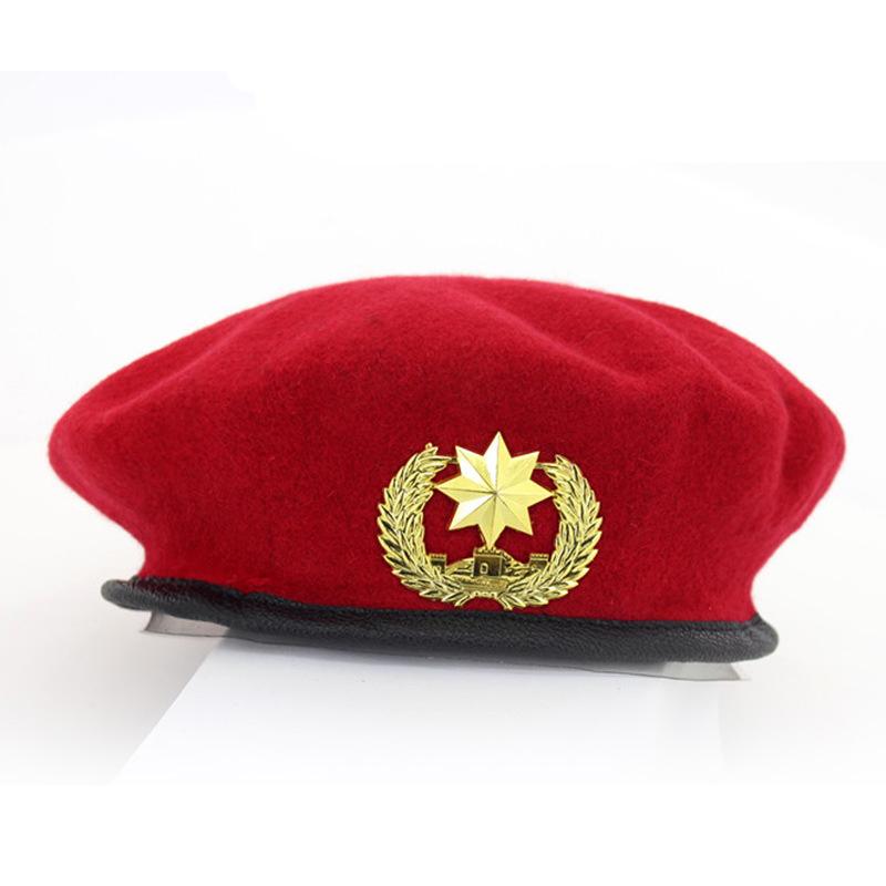 7ba9494d362c1 2019 High Quality Wool Army Berets For Men Women Children Star ...