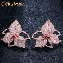 Cwwzircons эксклюзивный лист цветок разноцветный кубический