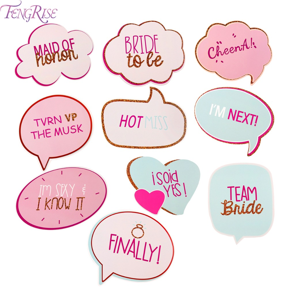 FENGRISE Bride To Be Photo Booth Props Wedding Decoration