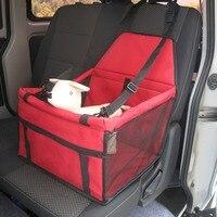 Bolsa de Nylon Para Perros Mascotas Portador de Coche Perro Cubierta de Asiento de Coche de Refuerzo de Malla de hilo de Bolsas de Transporte para Perros Pequeños Al Aire Libre de Viaje