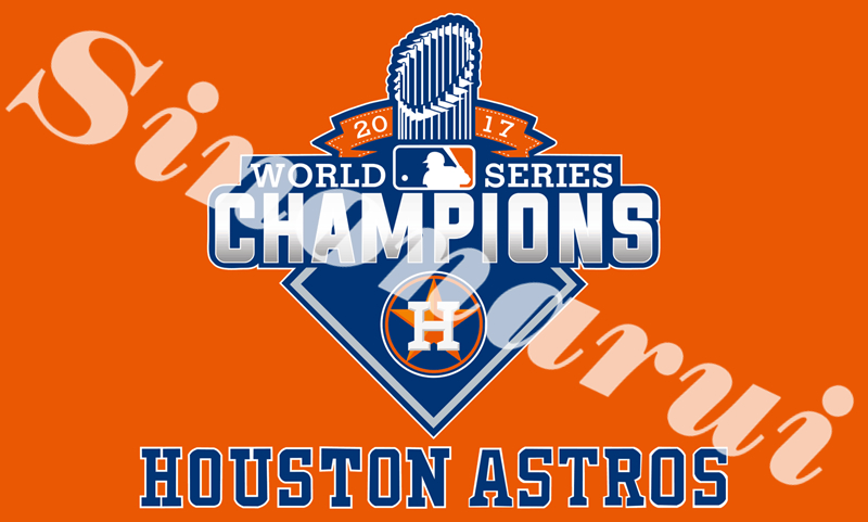Houston Astros Flag World Series Champion Baseball Team 90*150cm 100D Polyester Flags Banners With Sleeve Metal Gromets