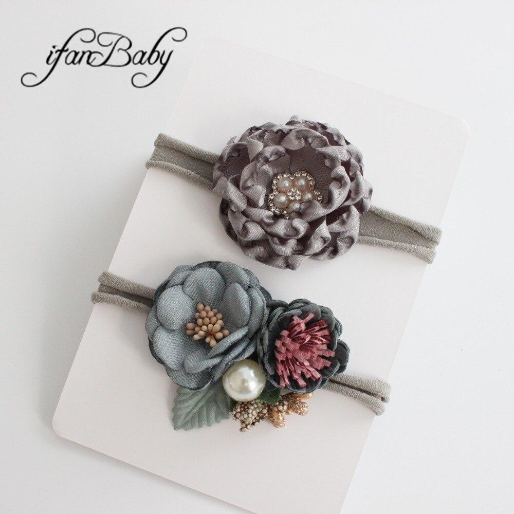 kids girl nylon flower headband (2)