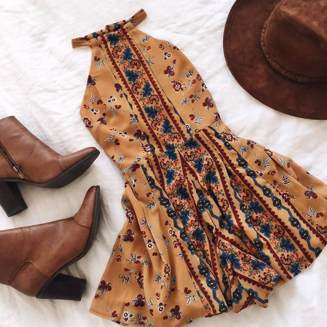 Buy New Beach Dress Floral Print Sleeveless One-piece Halter Summer Dresses Boho Chic Sexy Dress Vestidos Verano 2018