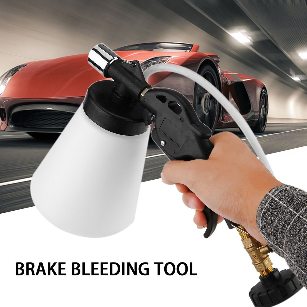 Car Pneumatic Brake Bleeding Tool Brake Clutch Fluid Bleeder Tool Air Powered Vacuum Tool for Cars Trucks Motorcyles