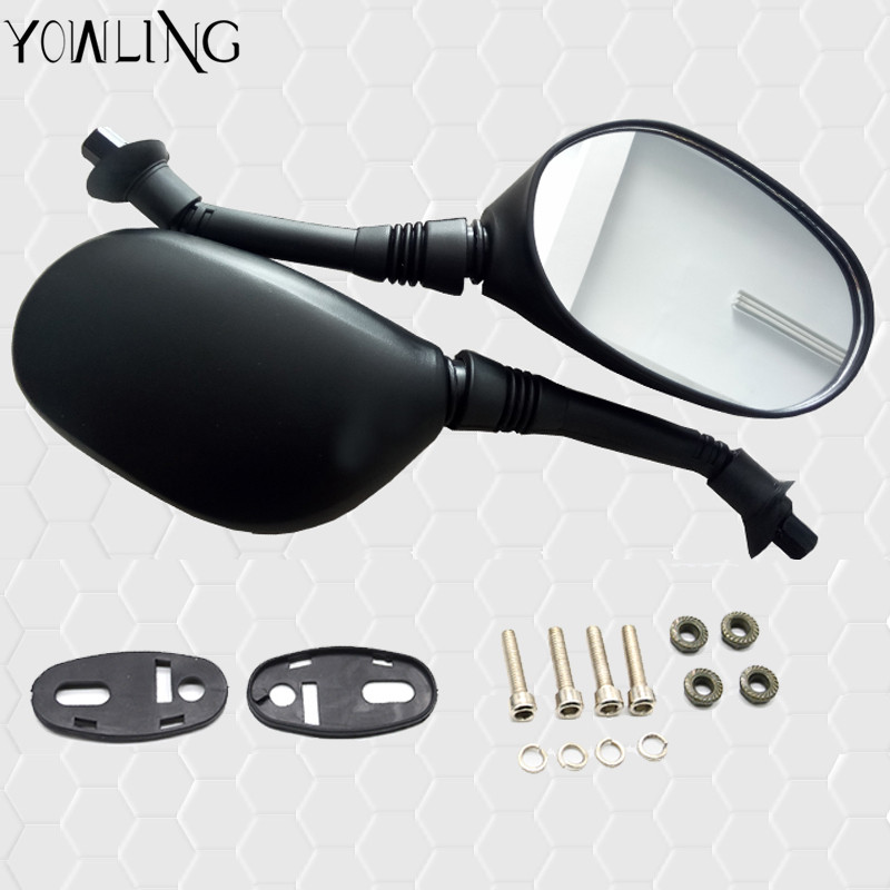 YOWLING UNIVERSAL 10MM MIRRORS rearview mirror motorcycle CNC ALUMINIUM BLACK