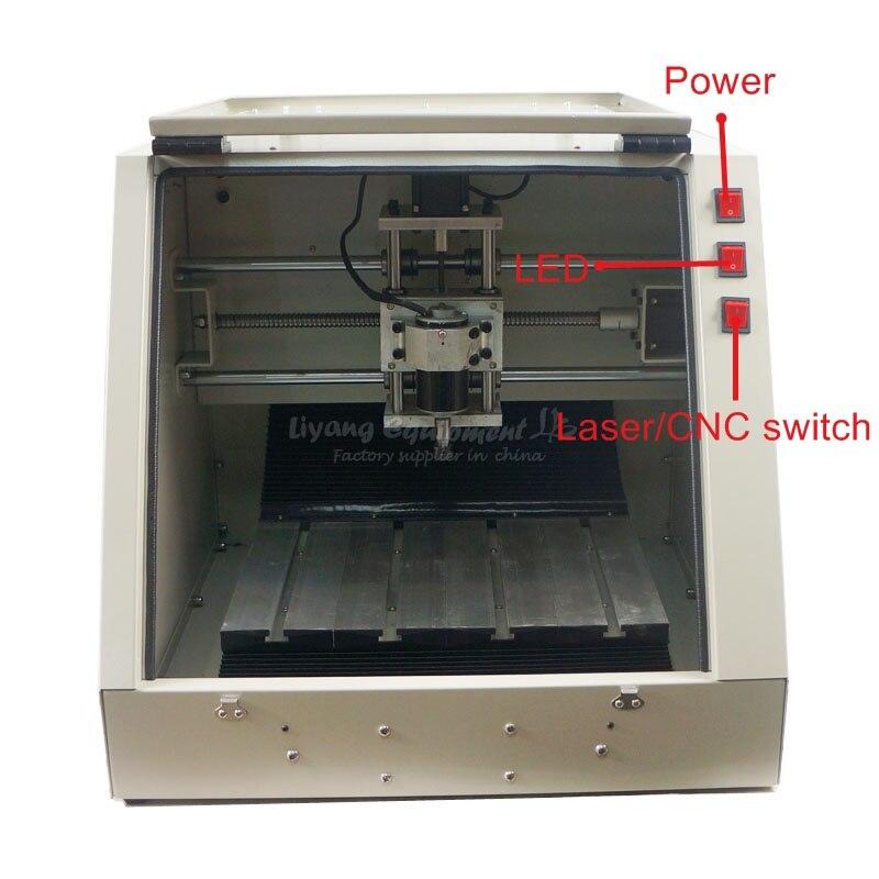 3 оси 3030 ЧПУ фрезерный станок mach3 поддержка с инструмент для проверки шариковый винт 57 шаговый двигатель деревянная упаковка