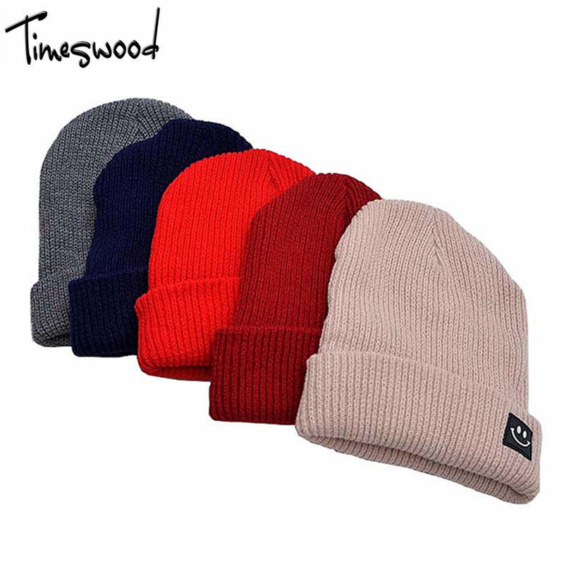 Women's Hat knitted Plain Solid Wool Hats For Winter Hip-hop Style Top Hot Sale Gorros For Female Good Quality Casual Cap Beanie rwby letter hot sale wool beanie female winter hat men