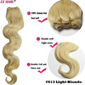 "Free shipping 16""18""20""22""24""26""28""100g/pcs wholesale silky soft remy 100% Human Hair weft/ weaving #613 Light Blonde Body Wavy"
