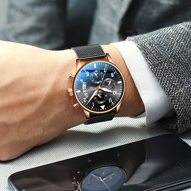 Man Wrist Watch 2019 Luxury Brand Men Watch Male Clock Business Classic Quartz Sport Chronograph Watch For Men Relogio Masculino