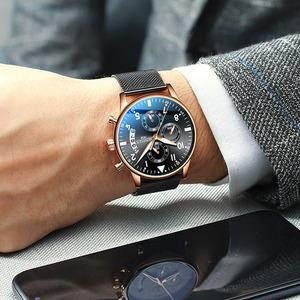 Image 1 - Man Wrist Watch 2019 Luxury Brand Men Watch Male Clock Business Classic Quartz Sport Chronograph Watch For Men Relogio Masculino