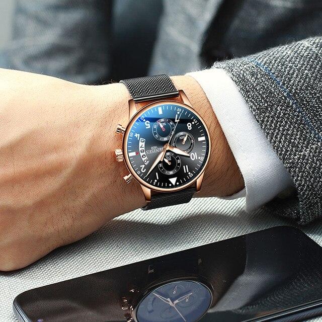 Mann Armbanduhr 2019 Luxus Marke Männer Uhr Männlichen Uhr Business Klassische Quarz Sport Chronograph Uhr Für Männer Relogio Masculino