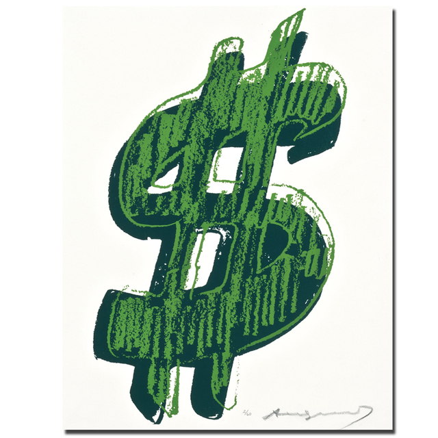 2017 single dollar sign by andy warhol pop art wall painting print rh aliexpress com Dollar Sign Clip Art Green Dollar Sign Clip Art