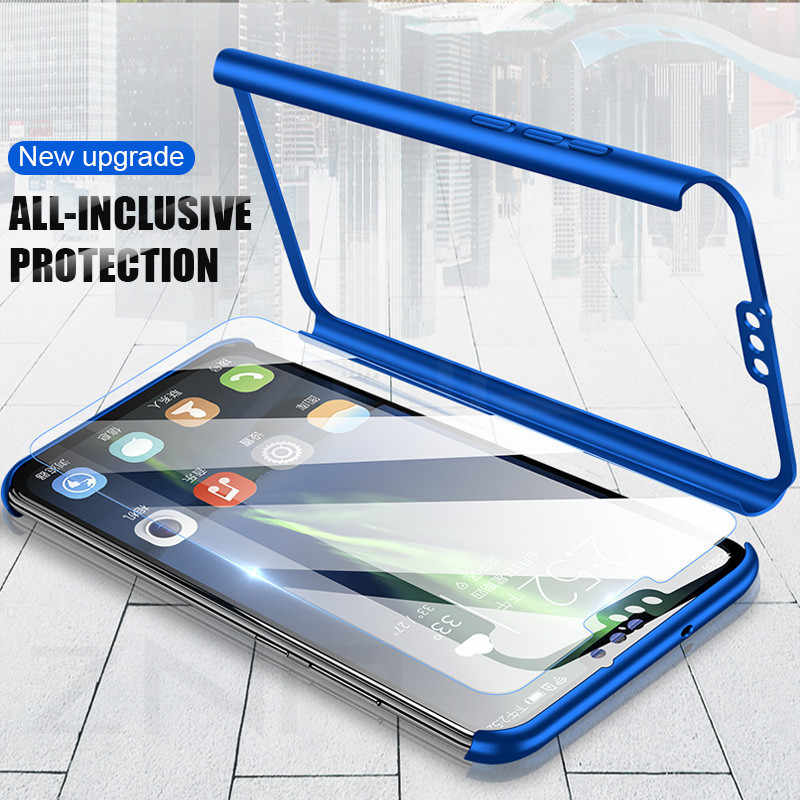 ZNP 360 Degree Full Cover Phone Case For Huawei Honor 9 Lite 10 8X Max Protective Shell For Honor 9 Lite 10 Case With Glass Capa