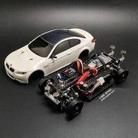 Собрать MINI D1/28RC мини дрейф гонки четыре колеса сзади Drive дистанционного Управление модель автомобиля M3 модель комплект