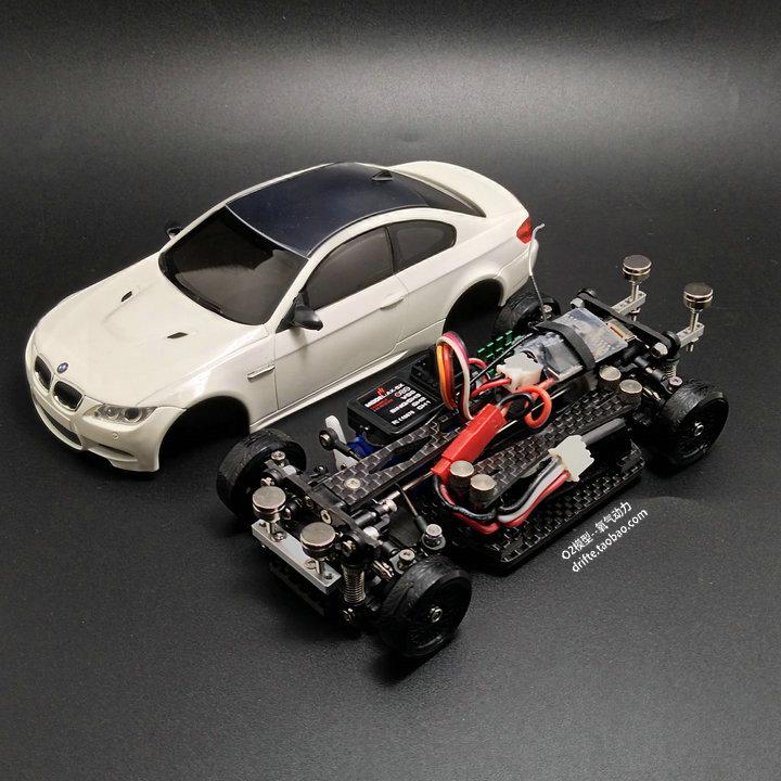 Assemble MINI-D1 / 28RC Mini Drift Racing Four-wheel Drive Rear Drive Remote Control Model Car M3 Model Kit