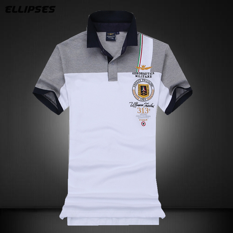 New Men's Fashion Leisure Summer Short Sleeve   Polo   Shirt Men's Embroidery Breathable 100% Cotton Stitching   Polo   Shirts
