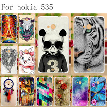 цена на Anunob Cover for Nokia 535 Case Silicone TPU Soft 3D Painted Funda for Microsoft Nokia Lumia 535 N535 5.0