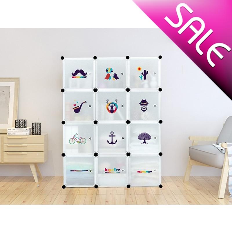 Шкаф сборный Модульные стеллажи для хранения одежды