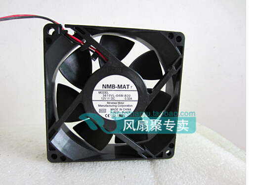 New original NMB 9CM 9225 12V 0.32A 3610VL-04W-B30 92*92*25MM dual ball fan cooling fan original delta afb0912shf 9032 9cm 12v 0 90a dual ball bearing cooling fan page 1