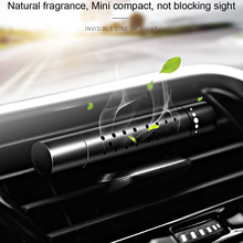 With 5pcs Free Solid Perfume Stick Supplement Car Air Freshener Auto outlet Conditioning Clip Magnet Diffuser
