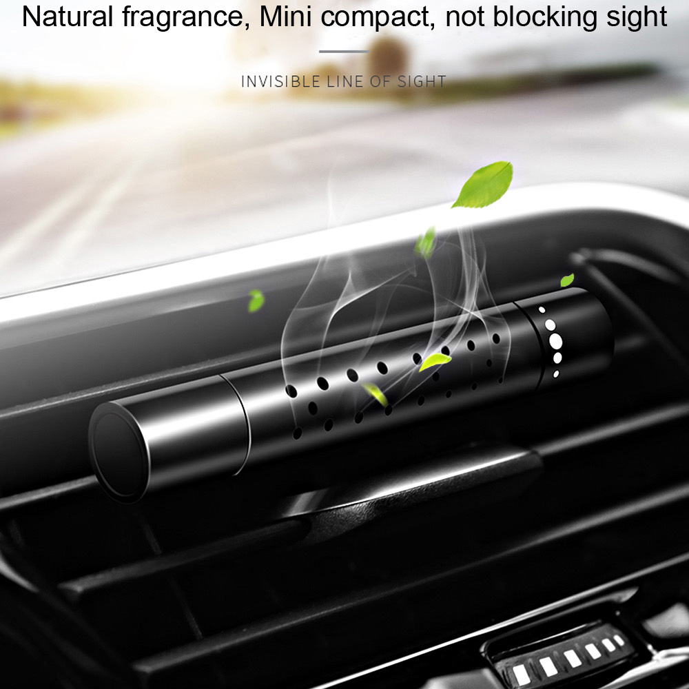 With 5pcs Free Solid Perfume Stick Supplement Car Air Freshener Auto outlet Perfume Air Conditioning Clip Magnet Diffuser