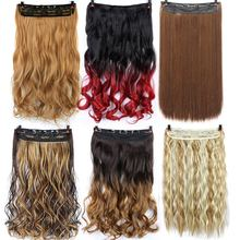 цены Pageup 24 Inch Long Sizes Wavy 5 Clip In Hair Extensions Clips High Temperature Fiber Various Color Synthetic Fake Hair Pieces
