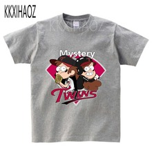 Gravity Falls Cartoon Mabel Dipper Pine Design Print Kid T-shirts Boy/Girl Summer Short Sleeve Tops Children T shirt 2019  NN цена