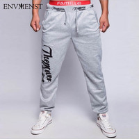 Foreign Trade Explosion Models Mens Fashion Sweatpants Letter Print Design Casual Joggers Pants 6 Color