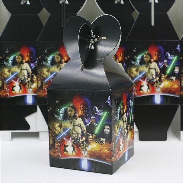 Star Wars Party Decoration Paper Favor Bag Candy Gift Box Birthday Souvenir Kids Boys Event Supplies 8Pcs Lot