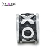 Everbling Hug and Kiss XOXO 100% 925 Sterling Silver Charm Beads Fits European Charms Bracelet S
