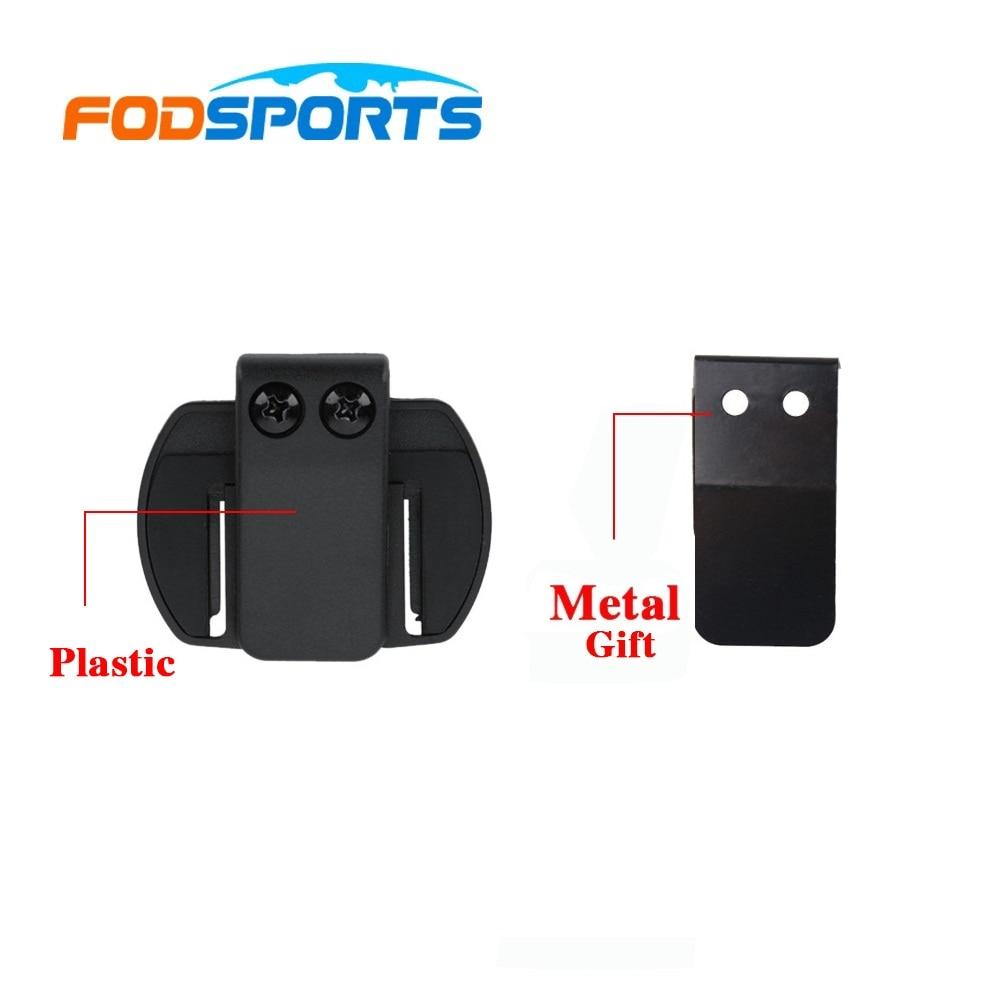 Gaxeta de metal + clipe suporte adequado para v6 v4 interfone da motocicleta bt capacete fone de ouvido bluetooth interfone
