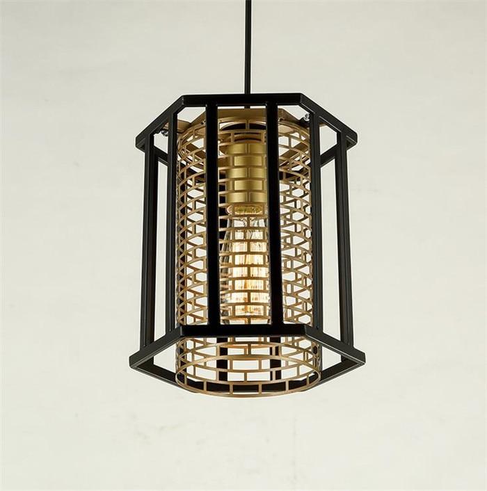 Nordic Country style Loft Lamp Iron America Pendant Light Art Drop light For Bar Cafe Study Warehouse lustre decoration lighting
