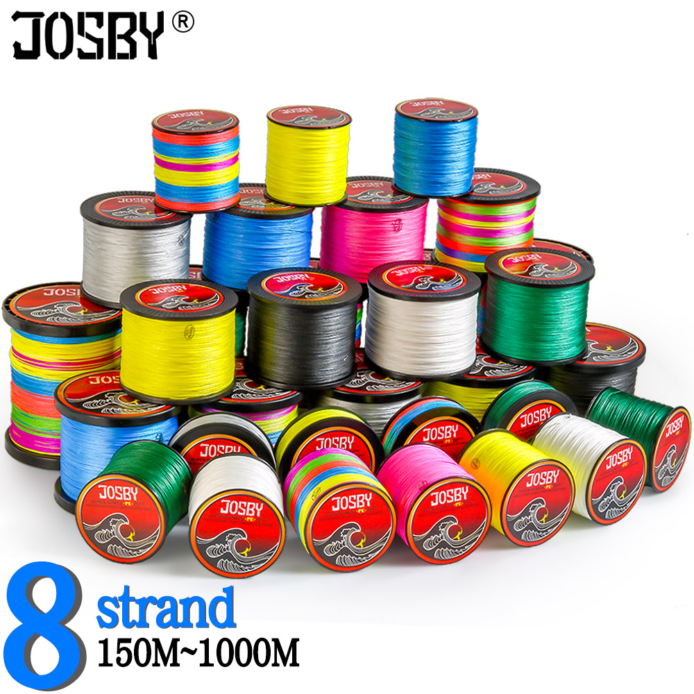 JOSBY Braid Fishing Line 8 Strand  300M 500M 1000M 150M100% PE Multifilamento Braided Carp fish Line Fly  Pesca X SUPER Smooth