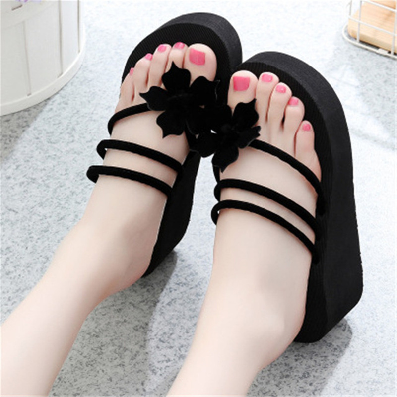 Outdoor Sandals Herringbone-Slippers Flowers Fashion with Women's New-Pattern