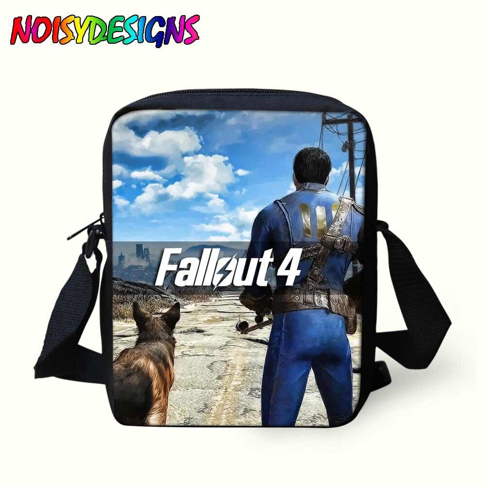Crossbody-taschen Messenger Taschen Für Kinder Fallout Spiel Leinwand Schulter Schul Kinder Mini Umhängetaschen Junge Handtaschen Kühlen Tasche Okul Cantalari