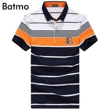 Batmo 2017 new arrival high quality striped cotton Fashion casual polo shirt men,size M.L.XL.XXL.XXXL
