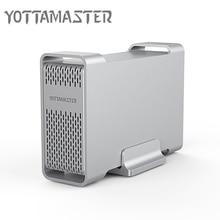 Yottamaster de gama Alta HDD Estación de Acoplamiento de Doble bahía de 2.5 pulgadas de Tipo C a Caso Del HDD 8 TB SATA3.0 Externa Soporte Raid 0/1/SPAN