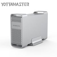 Yottamaster HDD Enclosure Sata to USB Type C 2.5 inch Hdd Case External Hard Drive Box Support Raid for 2.5 inch 7 15mm HDD