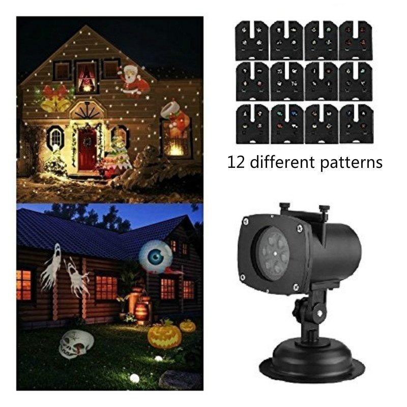 Christmas Laser Projector 12 Patterns Snowflake led laser shower christmas lights outdoor garland Waterproof Star Projector купить в Москве 2019