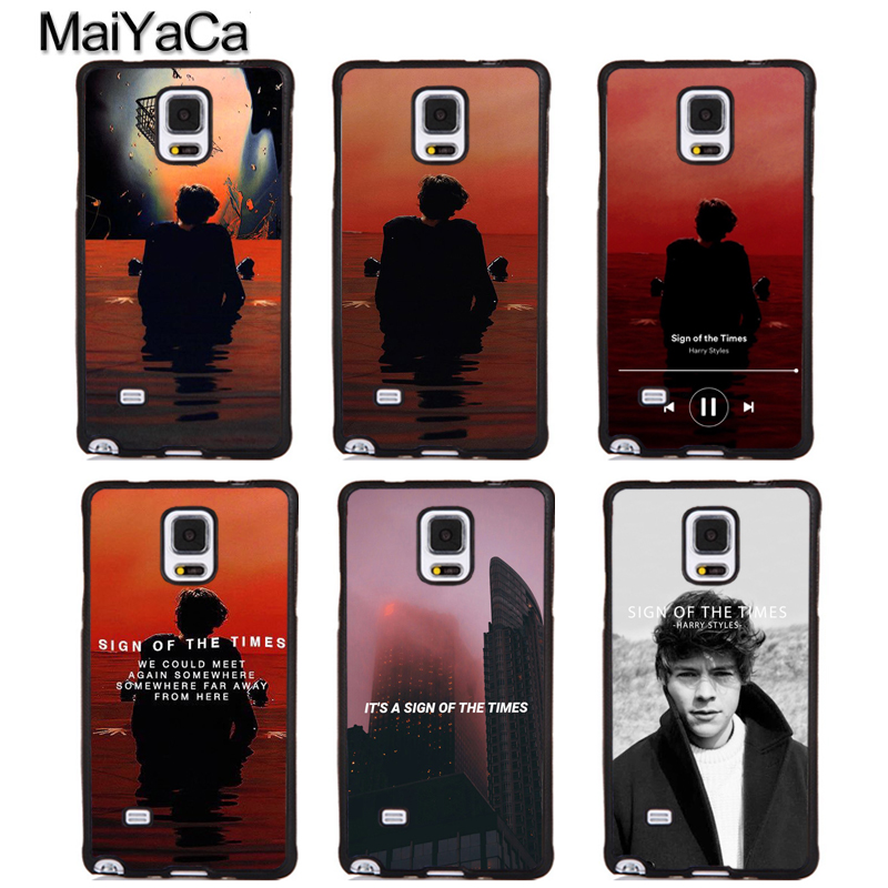 MaiYaCa Harry Styles Sign of the Times Rubber Skin Phone Cover For Samsung Galaxy S5 S6 S7 S8 S9 edge plus Note 4 5 8 Back Case